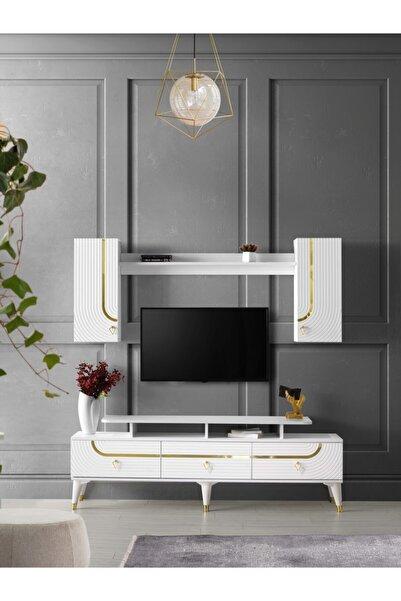 Venüs Art Gold Tv Ünitesi Beyaz
