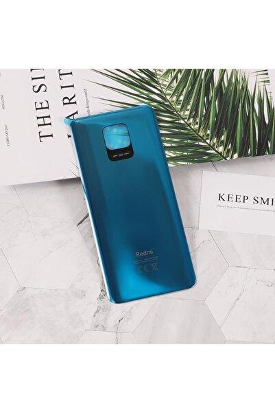 Piaks Xiaomi Redmi Note 9 Pro / Note 9s Arka Pil Batarya Kapak Cam Mavi