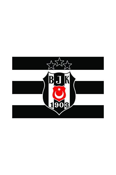 Beşiktaş Logolu 3 Yıldız Bayrak 70*105
