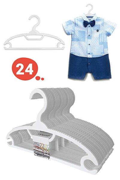 Morpanya Bebek Elbise Askısı Bebek Çocuk Giysi Kıyafet Askısı 24 Adet Gondol Beyaz Askı
