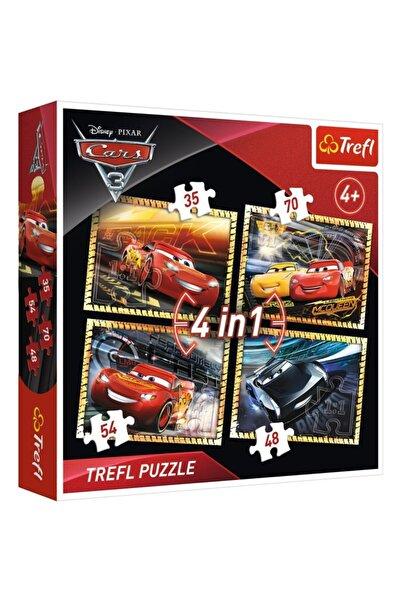 Trefl Cars 3 Yarışa Hazır Kutulu (cars 3, Ready To Race - 4ın1) 4'lü Puzzle/yapboz