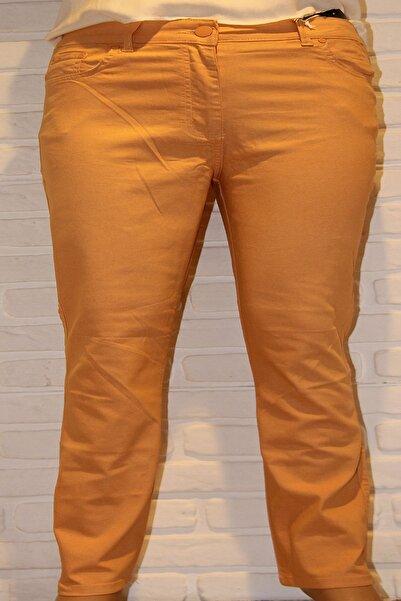 BARBAS Yüksek Bel Likralı Boru Paça Büyük Beden Pamuk Gabardin Pantolon