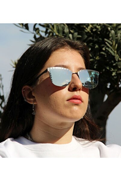 Ermenegildo Zegna Kadın Dikdörtgen Güneş Gözlüğü EZ 0086 02L