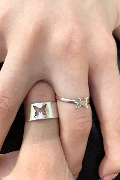 Carpe Kelebek Çift Yüzüğü