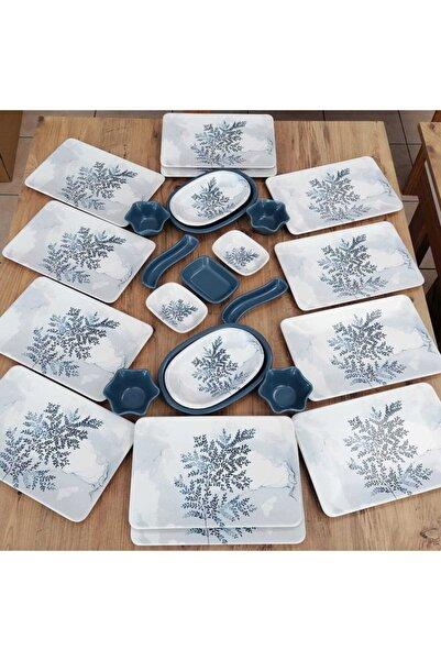 Keramika Blue Magıc Takım Kahvaltı 25 Parça 12 Kişilik