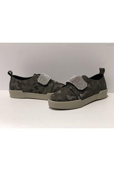 Markopark Bayan Sneakers Taşlı Cırtlı Ortopedik Bayan Spor Ayakkabı