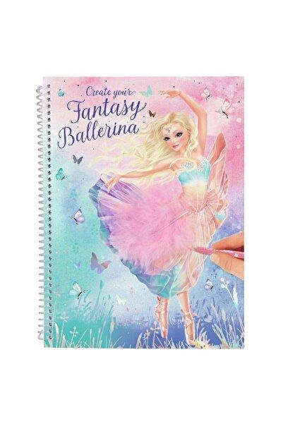 Top Model Create Your Fantasy Model Colouring Book Ballet Tasarım Defteri