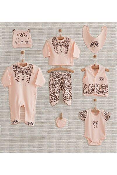 Nenny Baby Leopar Desenli 8 Parça Kız Bebek Hastane Çıkış Seti