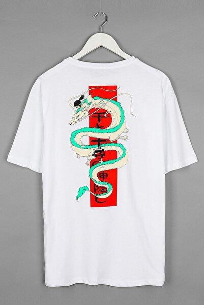 Sekizbiraltı Spirited Away Beyaz Oversize Unisex Tshirt