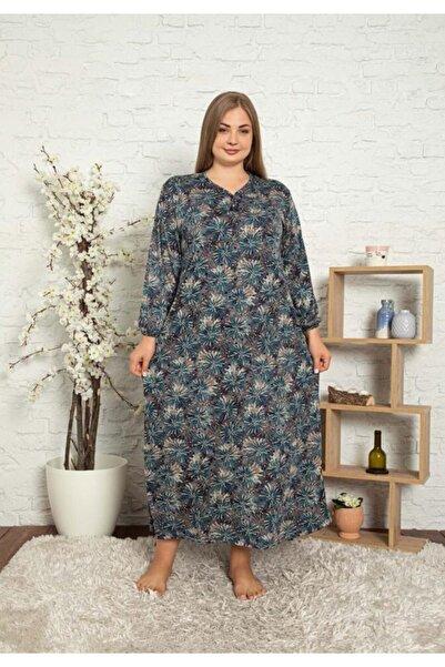 ASEL PİJAMALARI Büyük Beden Elbise Viscon(likralı) Kumaş (140cm)