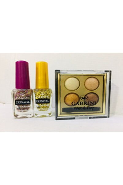 Gabrini Gold,sarı Tonlarında Dörtlü Far Paleti Oje Hediyeli