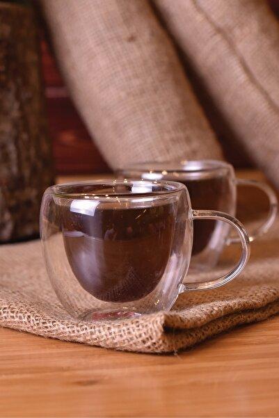 Taşev Chai 2 Parça Çift Cidarlı Çay Fincanı