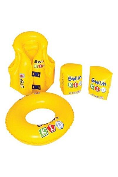 Buffalo Unisex Çocuk Sarı Yüzme Seti