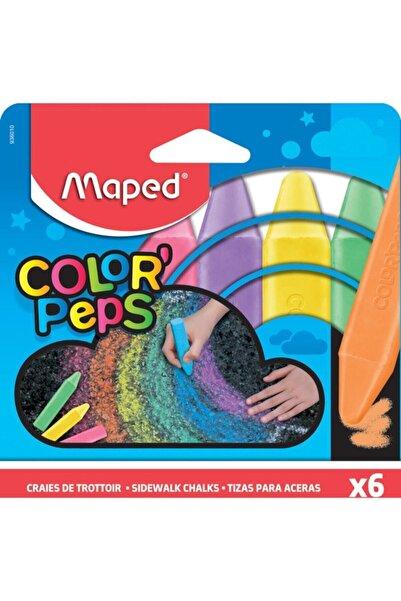 Maped 6 Renk Dış Mekan Yer Tebeşiri