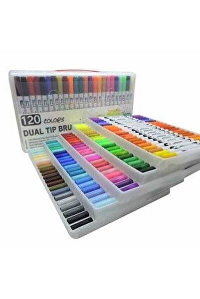 Brushpen Ve Fineliner 120 Renk Çift Taraflı Boyama Işarteleme Ve Yazı Kalem