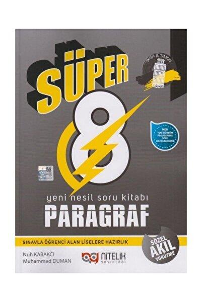 Nitelik Yayınları Nitelik 8.sınıf Süper Lgs Paragraf Soru Bankası