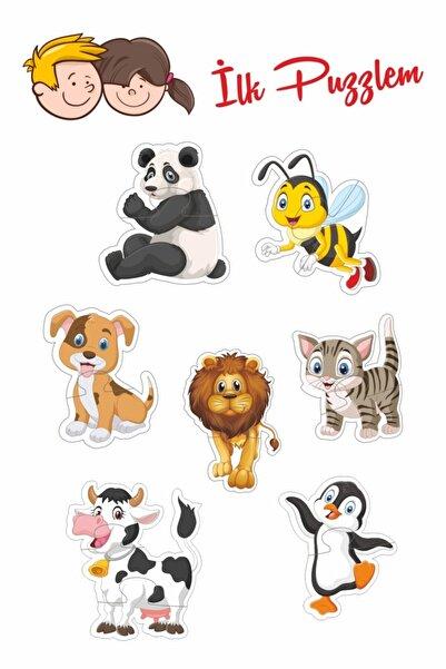 Baskı Atölyesi Baby Puzzle Sevimli Hayvanlar 2-3 Parça