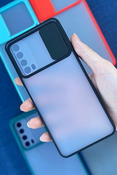 MM KILIF AKSESUAR Huawei P Smart 2021 Kamera Sürgülü Lens Korumalı Mika Kılıf