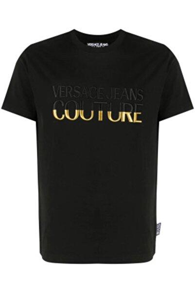 Versace Nakış Işleme Logo Jeans Couture Siyah T-shirt