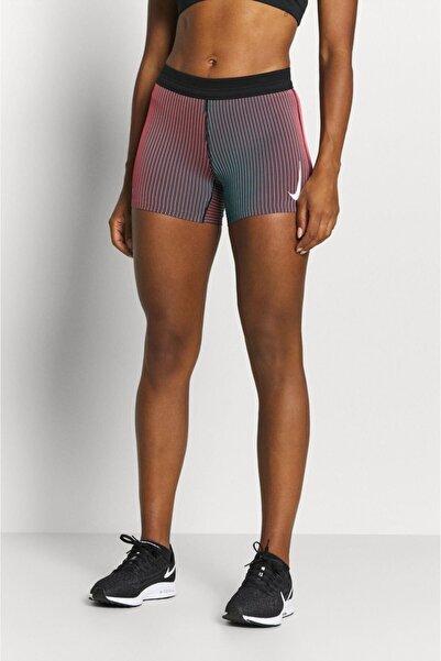 Nike Aeroswift Sıkı Kesimli Kadın Koşu Şortu Mercan Siyah Mavi