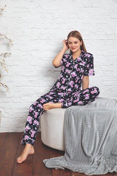 MİSS PERRY Çiçek Desenli Kısa Kollu Penye Pijama Takımı