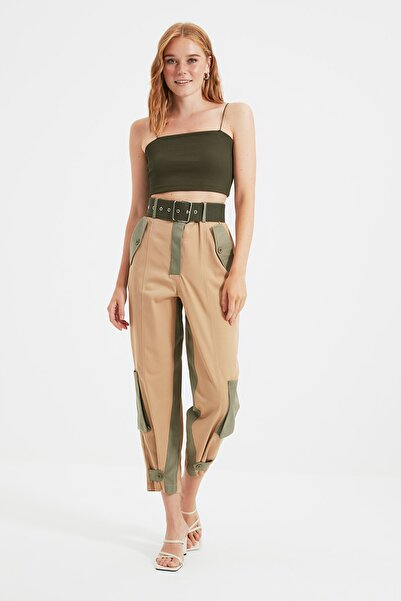 TRENDYOLMİLLA Çok Renkli Cep Detaylı Pantolon TWOSS21PL0678
