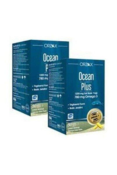 Ocean Plus Omega 3 1200 mg 50 Kapsül Balık Yağı  2 Adet