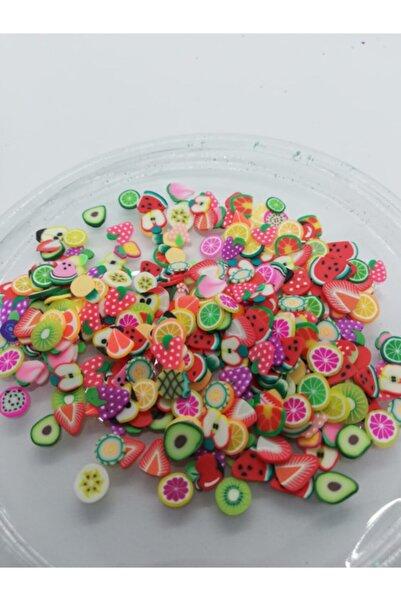 Epoksi Glitter Epoksi Süsleri Polimer Meyveler 5gr