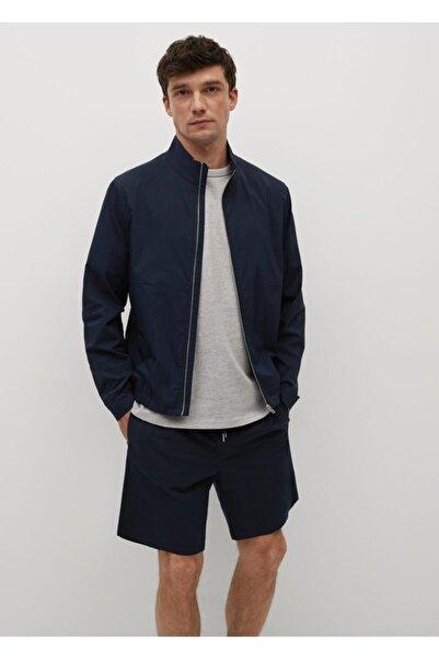 MANGO Man Erkek Fermuarlı Pamuklu Ceket