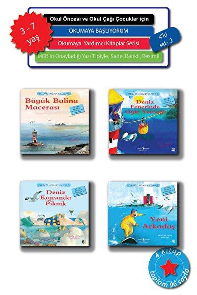 İş Bankası Kültür Yayınları 3 - 7 Yaş Okul Öncesi Ve Okul Çağı Için Resimli Deniz Hikayeleri, Ilk Okuma Kitapları Seti, 4 Kitap