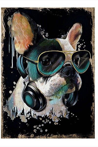 Tablomega Gözlüklü Köpek Dekoratif Ahşap Tablo