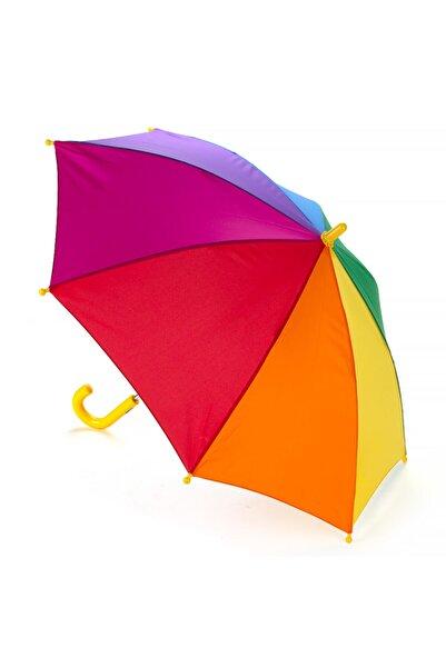 Mom & Kids Çocuk Gökkuşağı Şemsiyesi Yağmur Şemsiye