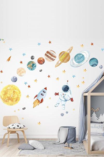 Kt Grup Astronot Ve Gezegenler Mega Set Duvar Sticker