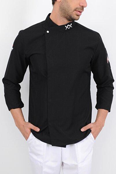 Lobby Uniform T Yaka Siyah Aşçı Ceket