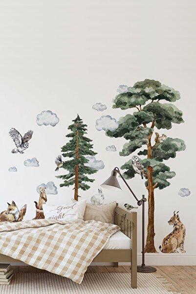 Kt Grup Vahşi Yaşam Muhteşem Hayvanlar Sulu Boya Duvar Sticker