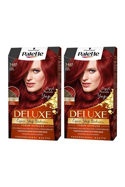 PALETTE DELUXE Yoğun Renkler 7-887 Ateş Kızılı X 2 Adet