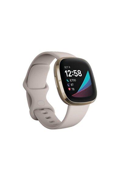 Fitbit Sense Akıllı Saat - Ay Beyazı/Altın