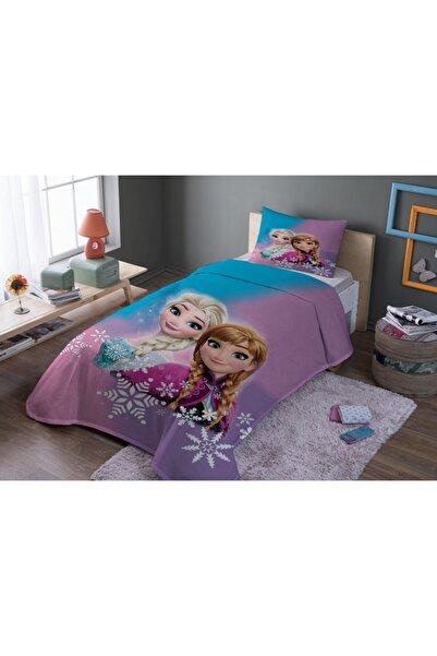 SHOWY BABY Elsa Ve Anna Desenli Tek Kişilik Pike Takımı Pike 160x230 / Yastık 50x70