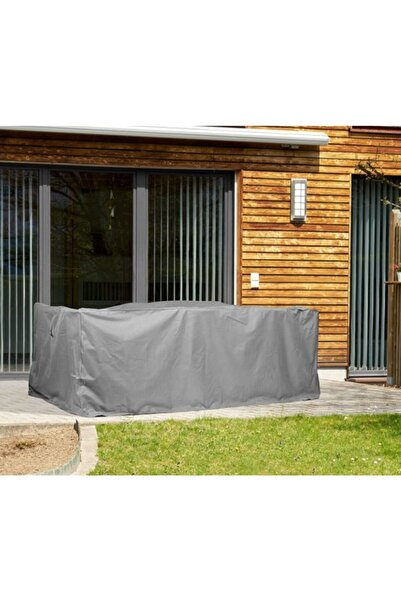 CoverPlus Bahçe Mobilya Koruma Örtüsü 320x200x80 Cm Gri Su Geçirmez