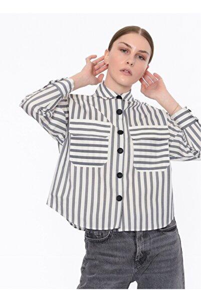 Twist Kadın Gömlek - Beyaz