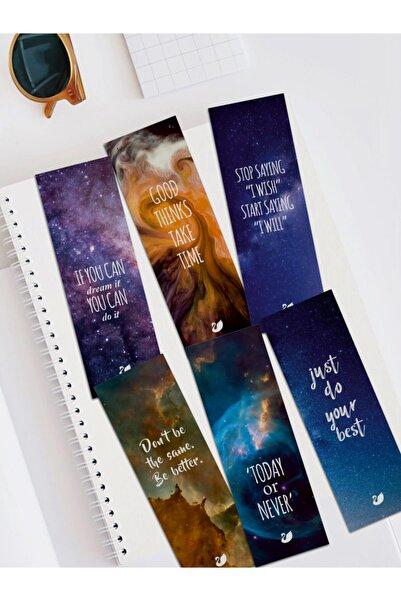 Özer Store Motivasyon Cümleleri Ve Uzay Temalı Kitap Ayracı Seti Bookmarks