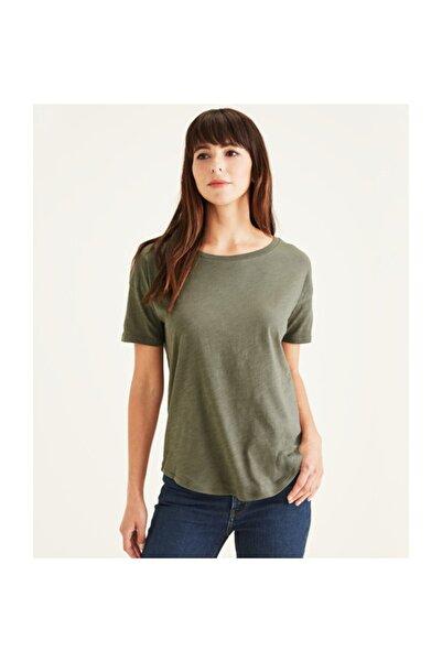 Dockers Kadın              SS RELAXED TEE MULLED BASIL T-Shirt A0245-0007