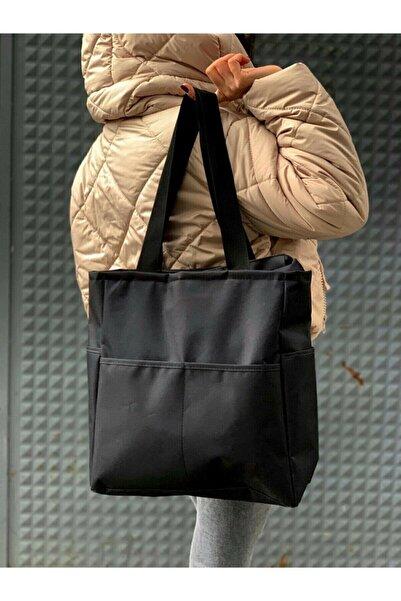 modibags Kadın Siyah Spor Büyük Kol Çantası 35*35*12 Cm Özel Üretim