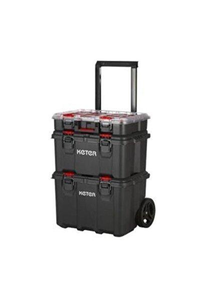 Keter Packnstack Organizerli 3 Katlı Tekerlekli Takım Çantası