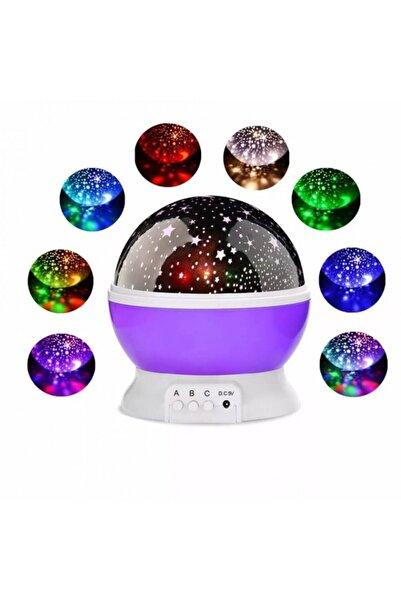 Lumenn Star Master Gece Lambası Mor Usb ve Pilli Büyük Boy Dönen Gökyüzü Ay ve Yıldız Yansıtma Projeksiyon