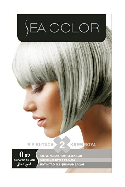 Sea Color Seacolor 2'li Krem Saç Boyası 0/02 Gümüş Gri