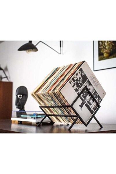 MERZANA Metal Plak Organizer, Dergilik, Kitaplık, Plaklık