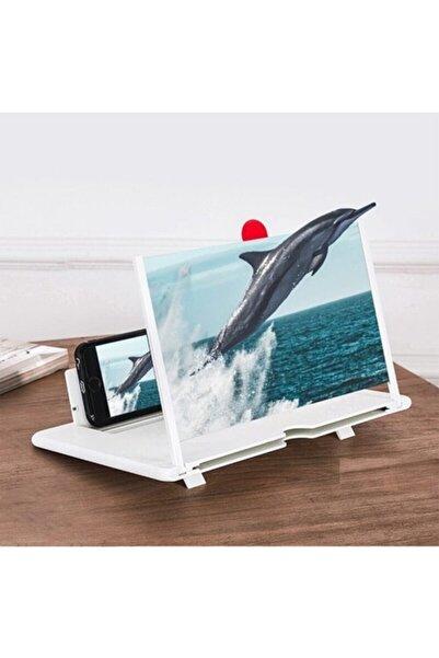 Viyesla Telefon Ekran Büyüteci Büyük Boy Cep Telefonu Büyüteç Beyaz Ekran Büyütücü
