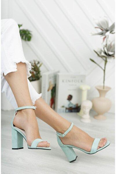Marla Karen Sasha Turkuaz Topuklu Kadın Ayakkabı