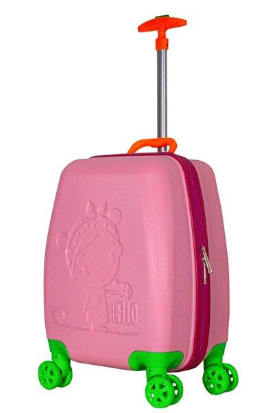 Wexta Wx-410 Pembe Kız Çocuk Valizi